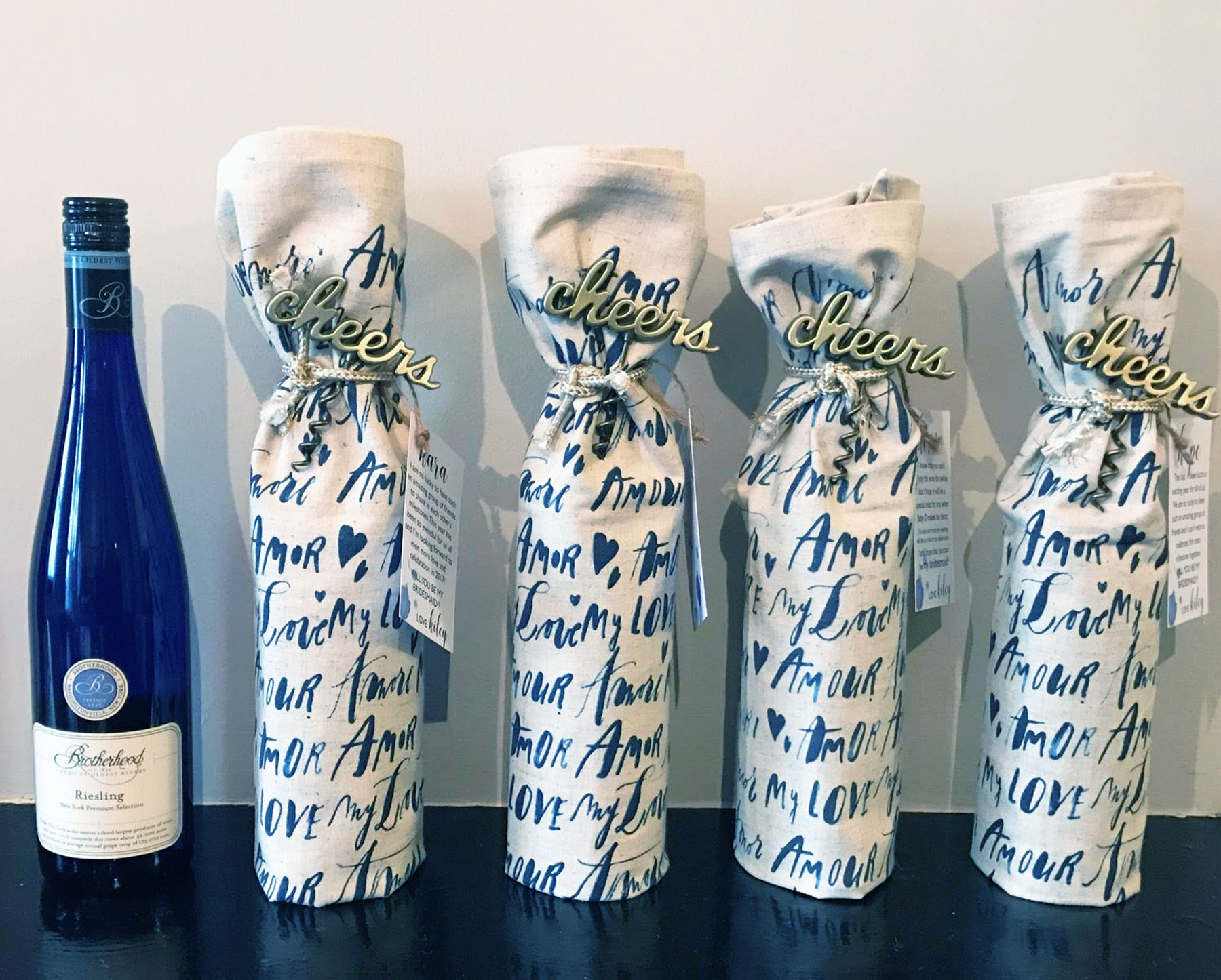 """There's a Riesling for Everything"" Bridesmaid Gift"